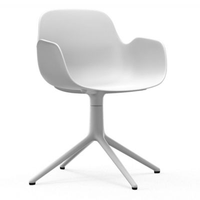 SWIVEL CHAIR FORM WITH ARMS WHITE WHITE BASE NORMANN COPENHAGEN