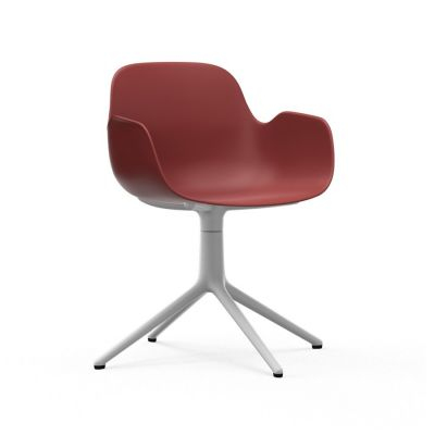 Form Swivel Armchair red/white aluminum NORMANN COPENHAGEN