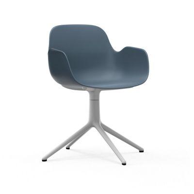 Form Swivel Armchair blue white aluminum NORMANN COPENHAGEN