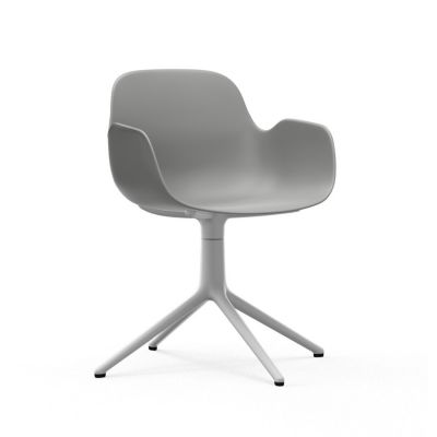 Form Swivel Armchair grey white aluminum normann copenhagen