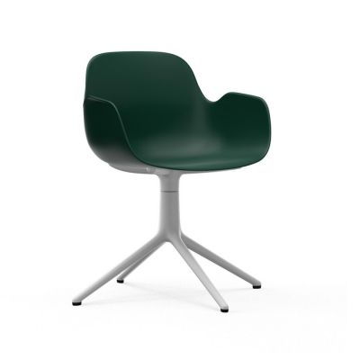 Form Swivel Armchair green/white aluminum NORMANN COPENHAGEN