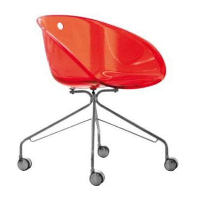 GLISS 968 OFFICE CHAIR RED PEDRALI
