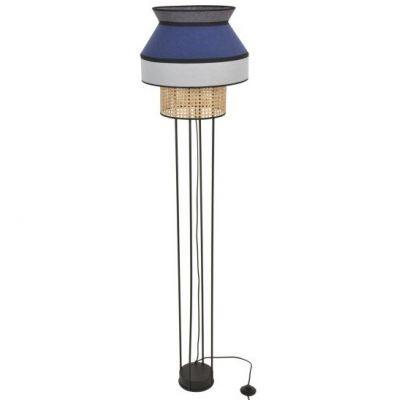 SINGAPOUR gris clair bleu indigo&anthracite floor lamp Market Set