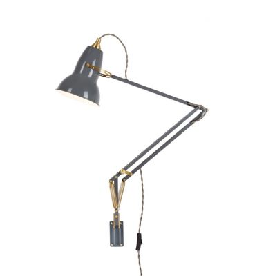 LAMPA ¦CIENNA ORIGINAL 1227 BRASS MOUNTED Elephant Grey ANGLEPOISE
