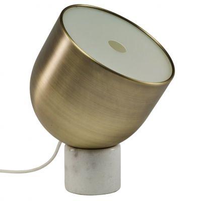 LAMPA STOŁOWA FARO MOSIĄDZ-BIAŁY MARMUR BOLIA