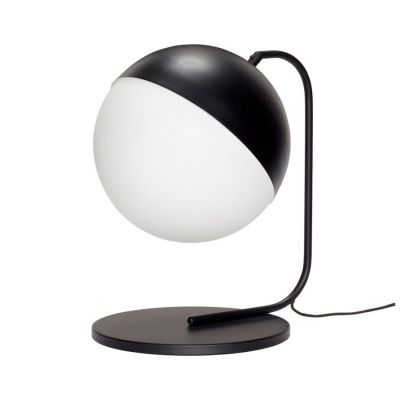 TABLE LAMP WHITE-BLACK HUBSCH