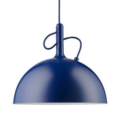 ADJUSTABLE LARGE BLUE PENDANT LAMP WATT A LAMP