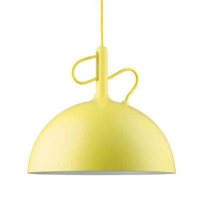ADJUSTABLE LARGE YELLOW PENDANT LAMP WATT A LAMP