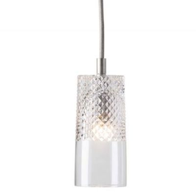 HANGING LAMP CRYSTAL BATES EBB&FLOW SILVER