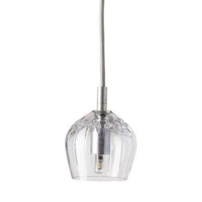 HANGING LAMP CRYSTAL COGNAC EBB&FLOW SILVER