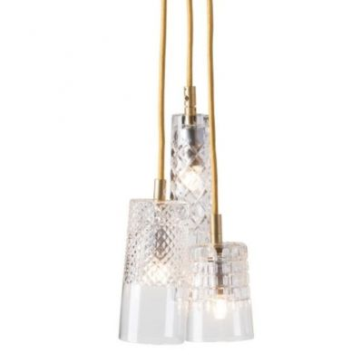LAMPA WISZ¡CA CRYSTAL GROUP 3 GOLD EBB&FLOW