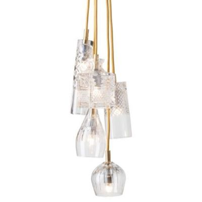 LAMPA WISZ¡CA CRYSTAL GROUP 5 GOLD EBB&FLOW