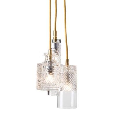 Hanging lamp Crystal GROUP Bates Jeeves Sybil GOLD EBB&FLOW