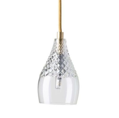 HANGING LAMP HENLEY CRYSTAL GOLD EBB & FLOW