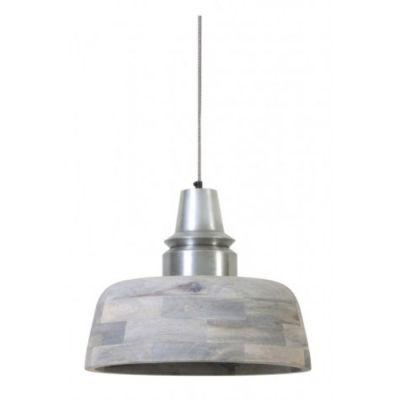 LAMPA WISZ¡CA MARGA 40X33 CM POSTARZANE SREBRO LIGHT&LIVING