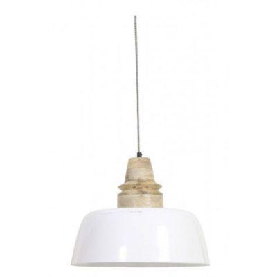 LAMPA WISZ¡CA MARGO 40X33 CM BIA£A LIGHT&LIVING