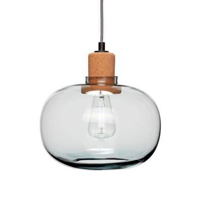 LAMPA WISZ¡CA SZKLANA cork 28 cm HUbsch