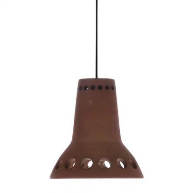 LAMPA WISZĄCA Z TERAKOTY 14x14.5 cm HK LIVING