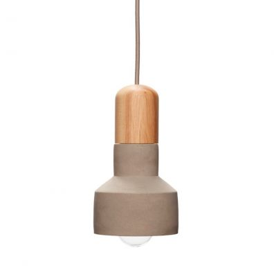 LAMPA WISZ¡CA BETONOWA NATURAL HUbsch
