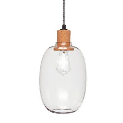 LAMPA WISZ¡CA SZKLANA cork 21 cm HUbsch
