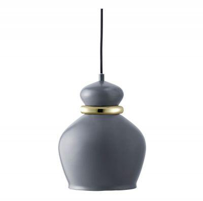 LAMPA WISZ¡CA Squeeze du¿a ciemnoszara Bolia