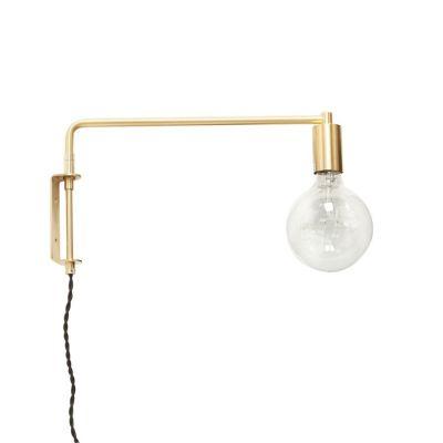 LAMPA ŚCIENNA złota HUbsch