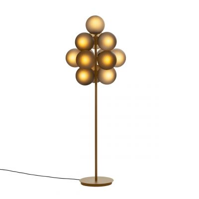 Lampa podłogowa Stellar duża przydymiona szara Pulpo