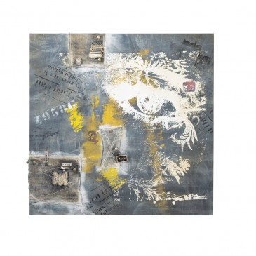 OIL PAINTING JEANS YELLOW