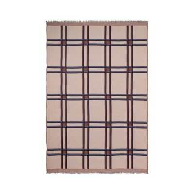 Checked Wool Blend Blanket beige Ferm Living