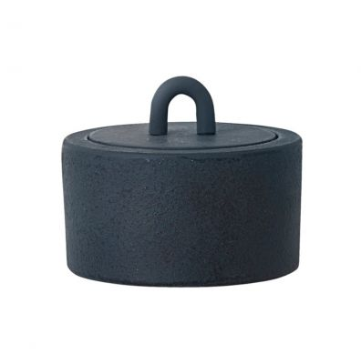 Buckle Jar Dark Blue Ferm Living