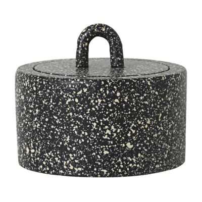 BUCKLE JAR Black-dappled FERM LIVING