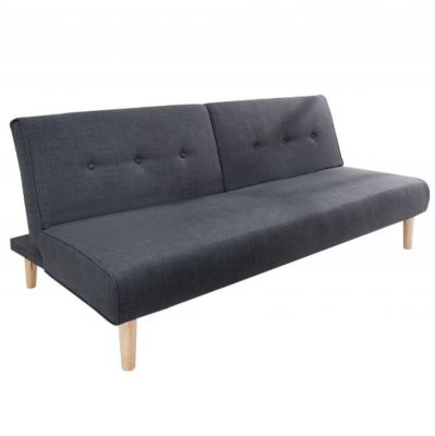 SOFA Z FUNKCJ¡ SPANIA BALTIC ANTRACYTOWA 180 CM INVICTA INTERIOR
