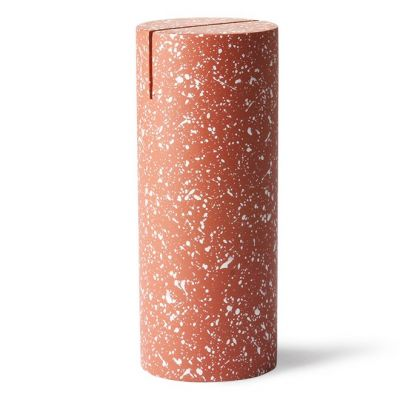 terrazzo cylinder photo stand red hk living