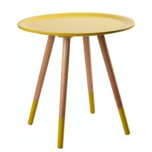 DOUBLE YELLOW SIDE TABLE