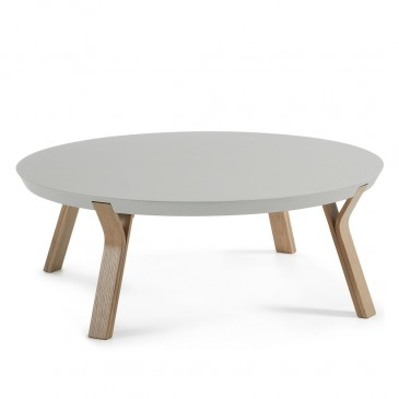 STOLIK KAWOWY FIN LIGHT GREY and GREY OAK
