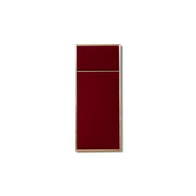 NOUVEAU PIN small with Rouge Noir textile and Brass frame Please Wait to be Seated