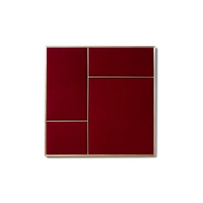 NOUVEAU PIN medium with Rouge Noir textile and Brass frame Please Wait to be Seated