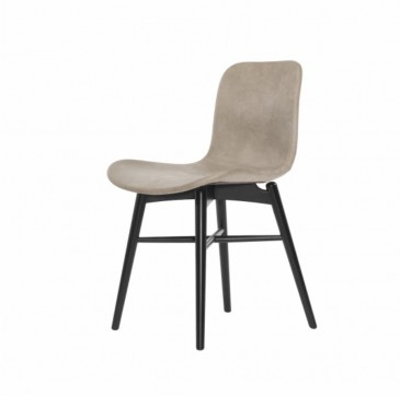 LANGUE GREY LEATHER-BLACK BEECH CHAIR NORR 11