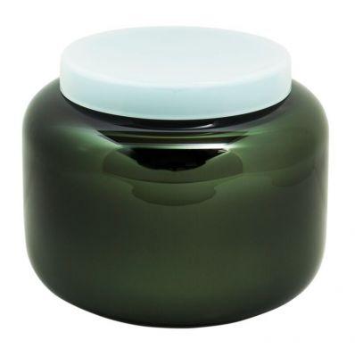 WAZA DEKORACYJNA CONTAINER black celadon green PULPO