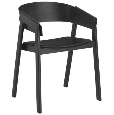 CHAIR COVER BLACK LEATHER MUUTO