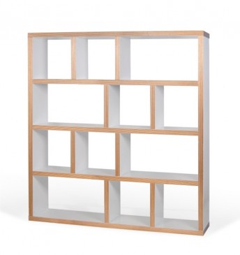 BERLIN 4 WHITE + PLAYWOOD BOOKCASE