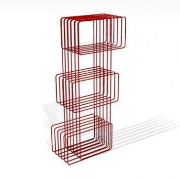 BOOKCASE BITRO RED