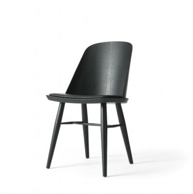 SYNNES CHAIR BLACK ASH TREE WITH THE LEATHER SEAT MENU