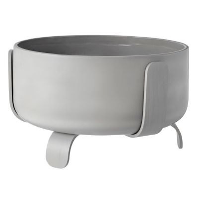 Rootlet flowerpot large grey Bolia