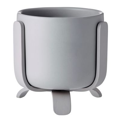 Rootlet flowerpot small grey Bolia
