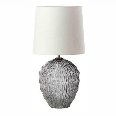 LAMPA STOŁOWA ICE CRYSTAL SZARA FRANDSEN
