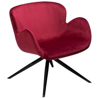 fotel GAIA rubinowy velvet DAN-FORM