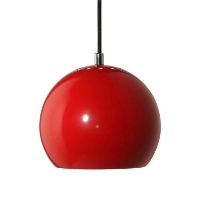 LAMPA WISZ¡CA BALL CZERWONA WYSOKI PO£YSK 18 CM FRANDSEN