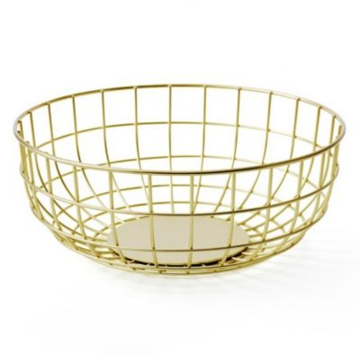 NORM WIRE BOWL BRASS MENU
