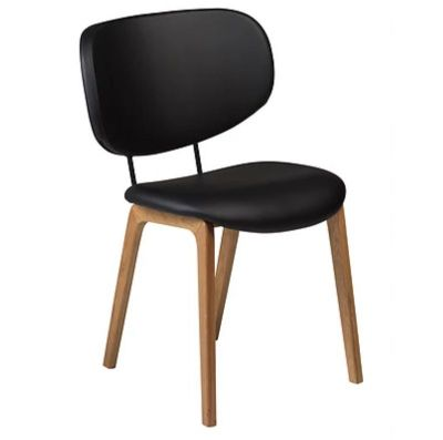 HOGO CHAIR BLACK ARTIFICIAL LEATHER